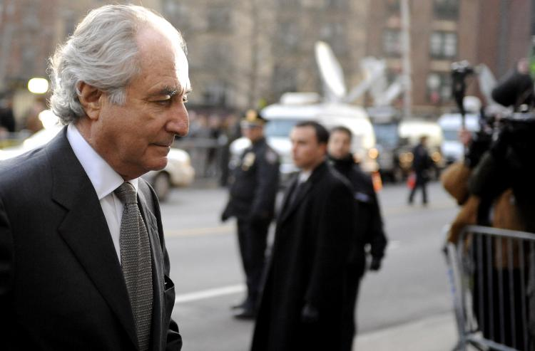 Bernard Madoff arrives at Manhattan Federal court on March 12, 2009 in New York City. (Stephen Chernin/Getty Images)