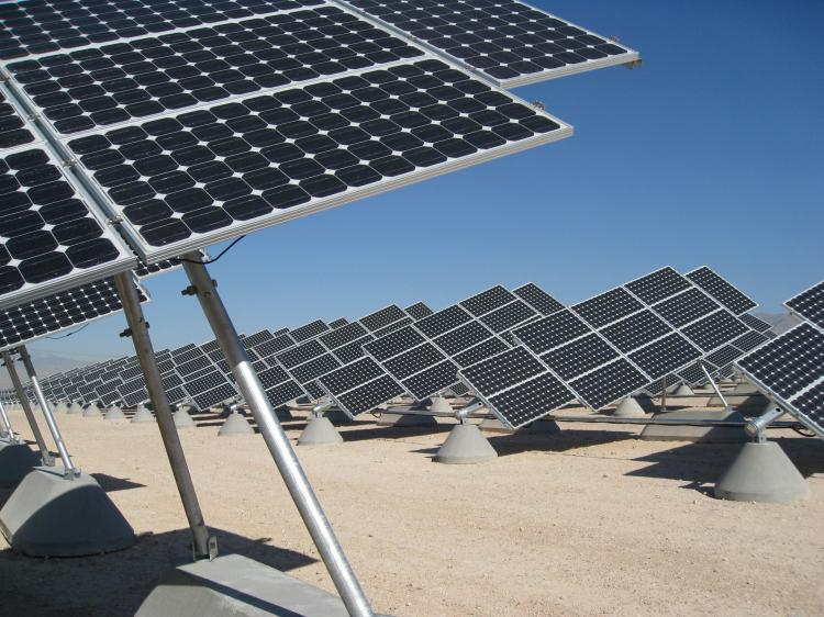 Solar Energy: SunPower Corp announced on Tuesday they were selected to build a new solar plant at Luke Air Force Base in Glendale, Arizona. (Olivia Hampton/AFP/Getty Images)