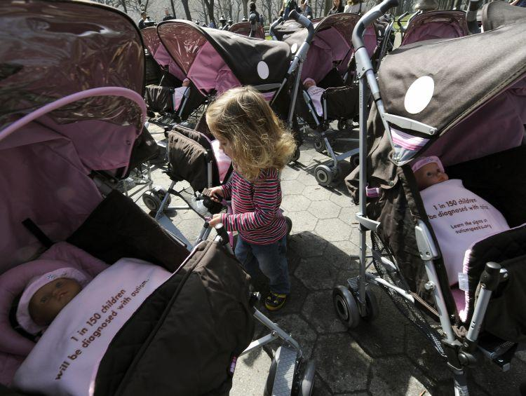 Autism checklist: Researchers are developing a questionnaire to aid early autism diagnosis in children. World Autism Day, here in Central Park on April 2, 2009, helps to draw attention to the growing autism epidemic. (Timothy A. Clary/AFP/Getty Images)