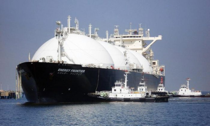 A liquefied natural gas (LNG) tanker. (STR/AFP/Getty Images)