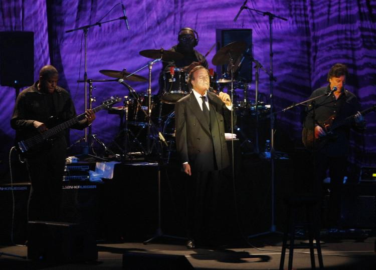 Spanish singer Julio Iglesias performs on stage during a concert in downtown Beirut in 2009. (RAMZI HAIDAR/AFP/Getty Images)