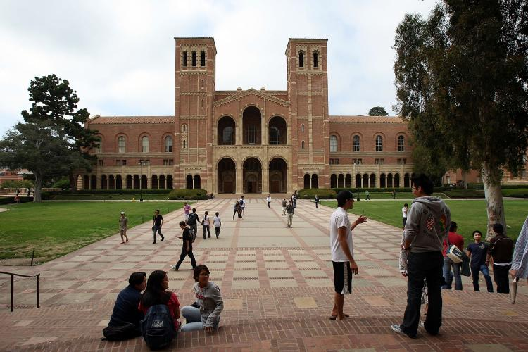 Students go about their business at University of California, Los Angeles (UCLA) Nancy Salas the missing UCLA student had apparently deceived her parents about her status at the university. (David McNew/Getty Images)