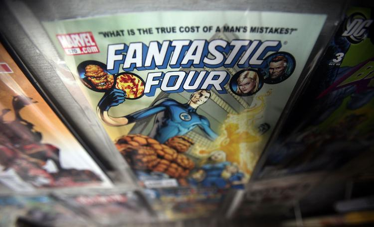 A Marvel Fantastic Four comic book is seen for sale at St. Mark's Comics August 31, 2009 in New York City.  (Mario Tama/Getty Images)