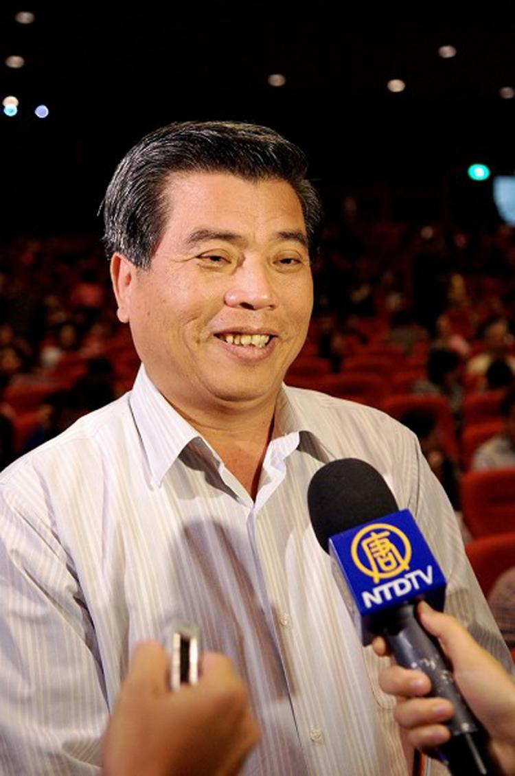 Mr. Song Kongkai, director-general of Pingtung County Police Bureau, said, 'As police are often too uncompromising, we should learn something from Shen Yun.' (Li Yuan/ The Epoch Times)