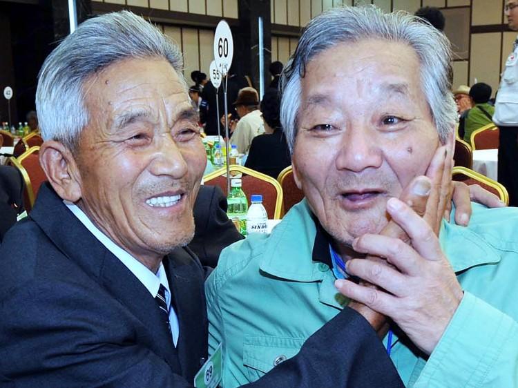 Elderly Siblings Reunite