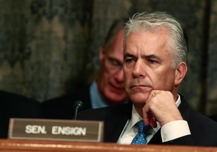 Sen. John Ensign (R-Nev.) announced that he is going to resign next month. (Mark Wilson/Getty Images)