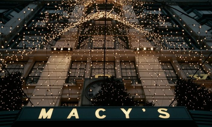 The Midtown Manhattan's Macy's department store with holiday decorations in this file photo from 2009. (Chris Hondros/Getty Images)