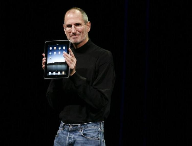 CEO Steve Jobs announces the new iPad as he speaks during an Apple Special Event at Yerba Buena Center for the Arts January 27, 2010 in San Francisco, California. (Ryan Anson/AFP/Getty Images)