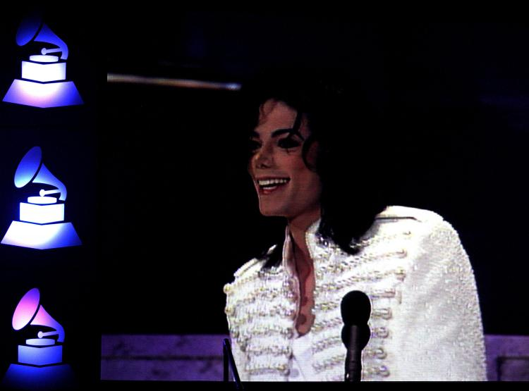 MICHAEL JACKSON: An image of Michael Jackson is displayed on a monitor during the 52nd annual Grammy Awards-Special Merit Awards at the Wilshire Ebell Theater on Jan. 30, 2010 in Los Angeles. (Frederick M. Brown/Getty Images)