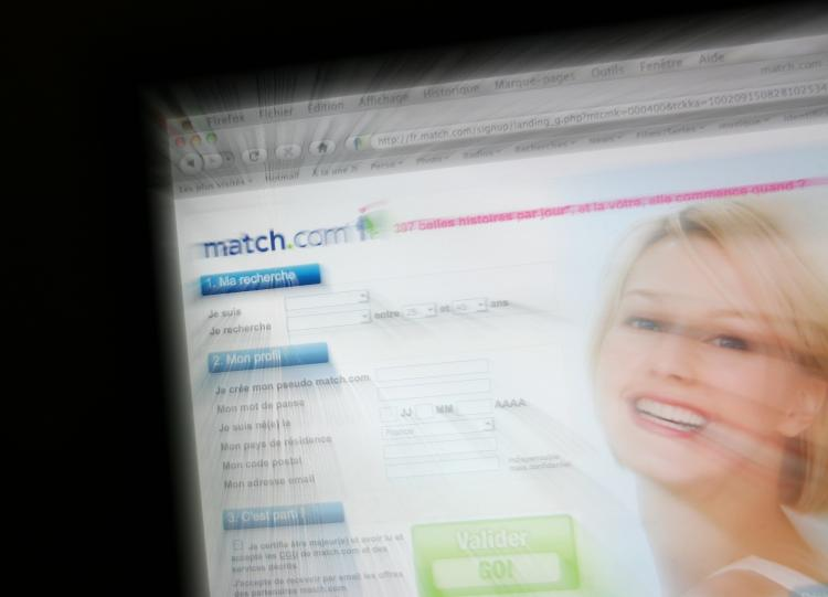 The french homepage of the dating agency website Match.com.  The homepage of the dating agency website Match.com. Match.com announced they would begin checking users against the national sexual offender registry before allowing them to contact other users.  (Loic Venance/Getty Images)