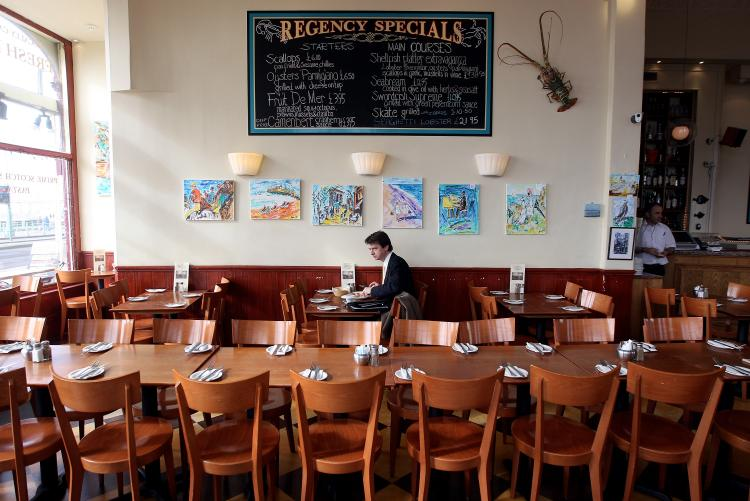 A sea front cafe in Brighton, England. A new study of managers, waiters and chefs at 90 restaurants in Brighton showed only a third have specific food allergy training. (Dan Kitwood/Getty Images)