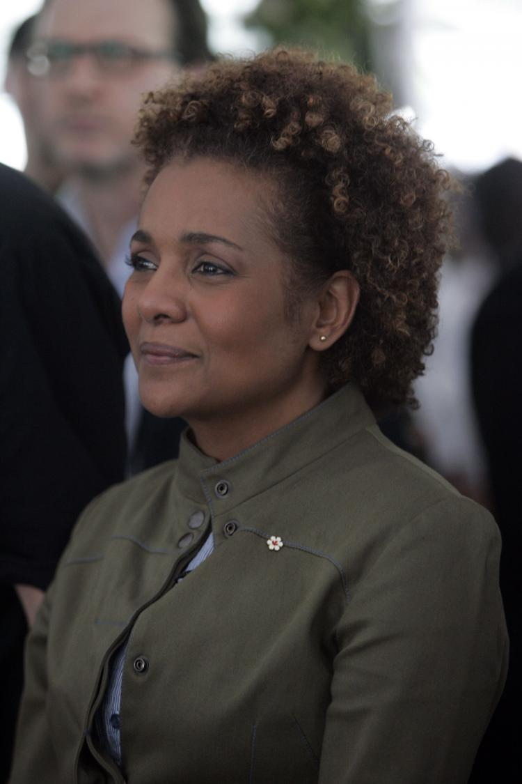 Governor General Michaelle Jean attends an International Women's Day celebration in Port-au-Prince, Haiti, in March. NDP MP Paul Dewar has requested that Jean be appointed to Bill Clinton's Haiti Reconstruction Commission once her term ends on Sept.  (Sophia Paris/MINUSTAH via Getty Images)