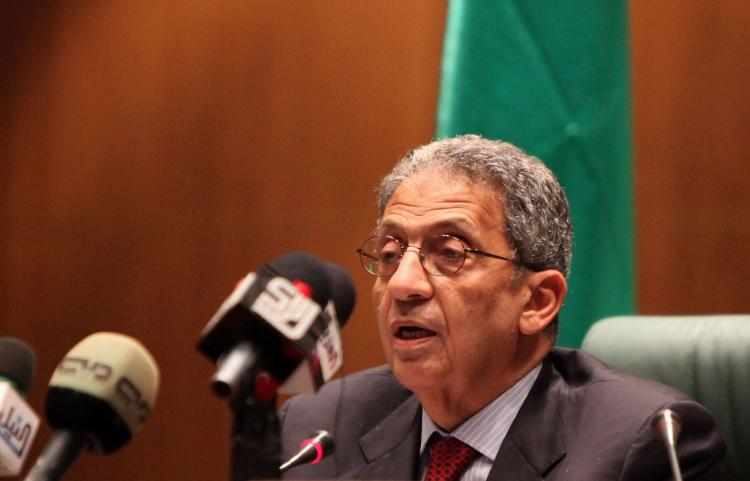 Secretary General of the Arab League Amr Mussa. The League has given support to a resumption of peace talks between Israel and Palestine. (Mahmud Turkia/AFP/Getty Images)