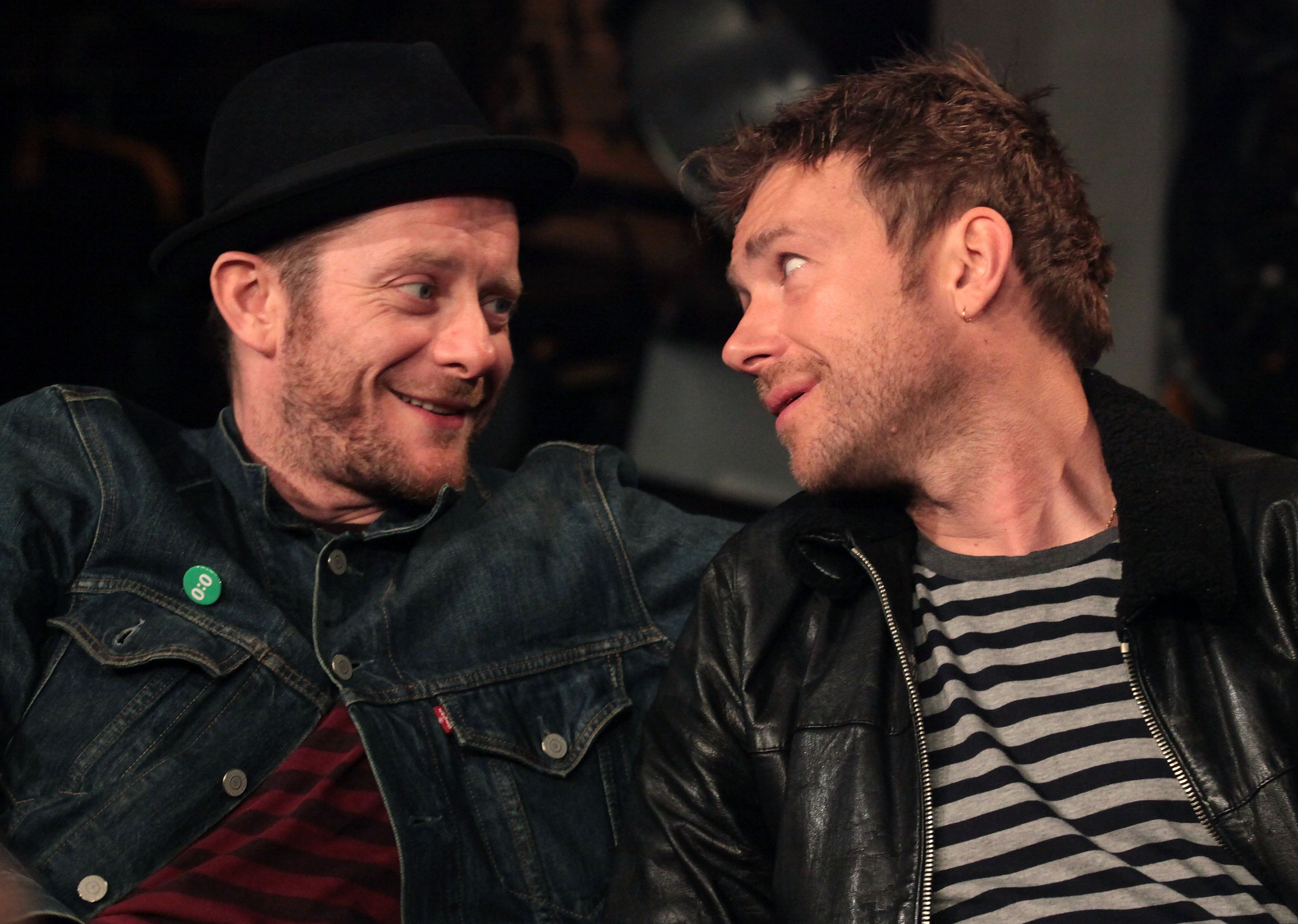 Jamie Hewlett and Damon Albarn of Gorillaz (Astrid Stawiarz/Getty Images)