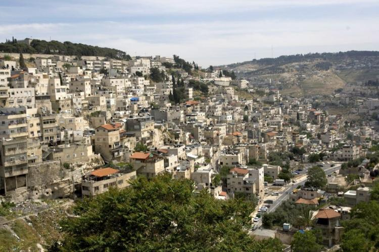 A picture of the east Jerusalem neighborhood of Silwan on April 28. Silwan is a hotly contested area of east Jerusalem with dozens of Arab houses slated for demolition by the city for lack of building permits . (Ahmad Gharabli/AFP/Getty Images )