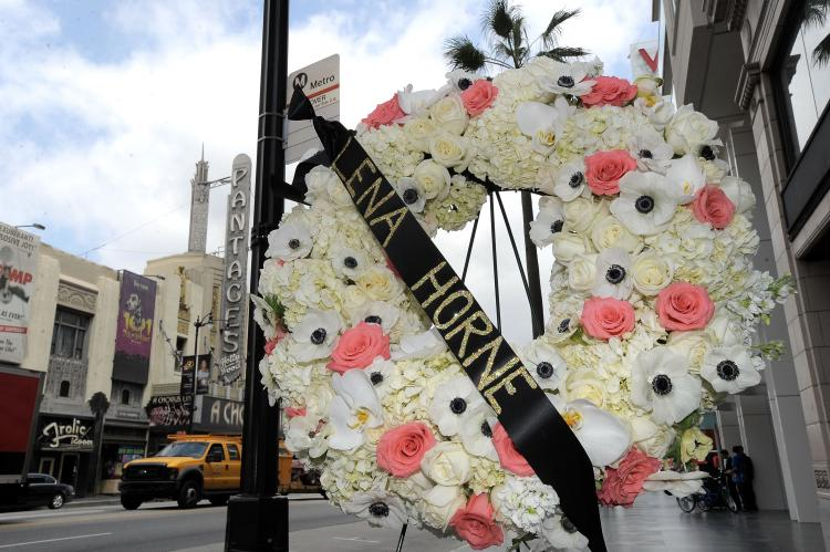 A memorial wreath is placed near singer/actress Lena Horne's star on the Hollywood Walk Of Fame on May 10, 2010 in Hollywood, California. Miss Horne died Sunday, at the age of 92.  (Charley Gallay/Getty Images)