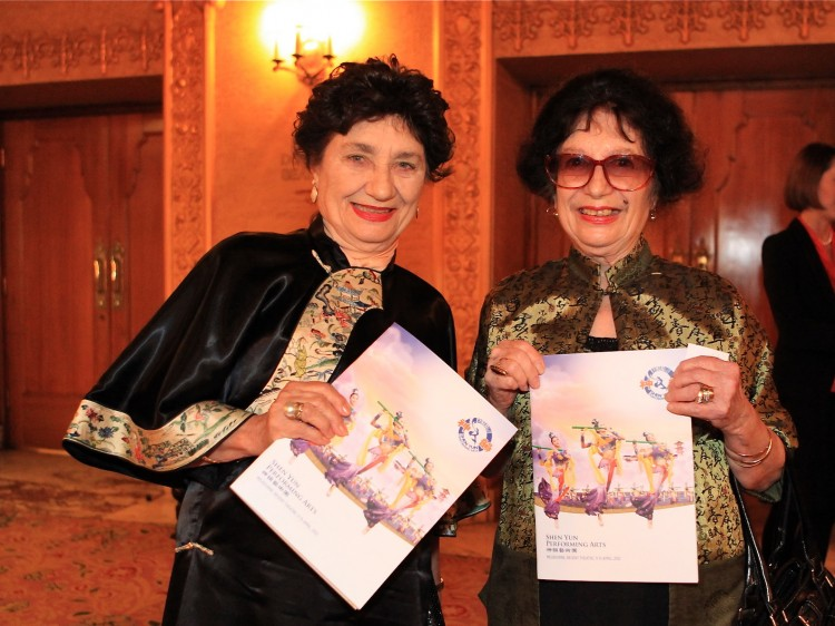 Ms. Sandell and her sister Dimitra Talbot attend Shen Yun