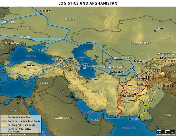 Map courtesy of STRATFOR, a global intelligence company. (stratfor.com)