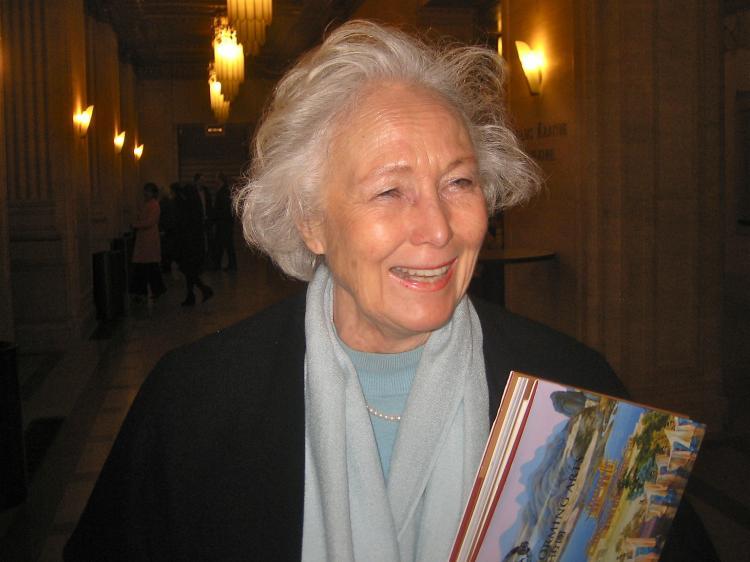 Anne Schumacher, a retired professor, at Shen Yun Performing Arts in Chicago. (Jun Yu/The Epoch Times)