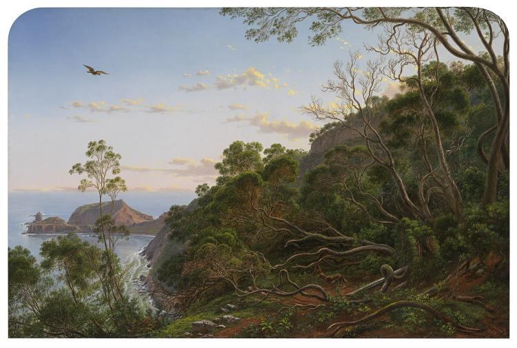 Tea Trees near Cape Schanck, Victoria 1865 by Eugene von Guerard (born Austria 1811, lived in Australia 1852-82, Europe 1882-1901, died England 1901).