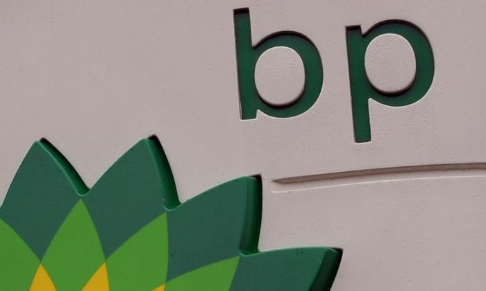 A BP petrol station logo is pictured in Manchester, north-west England, on July 27, 2010. (Andrew Yates/AFP/Getty Images)