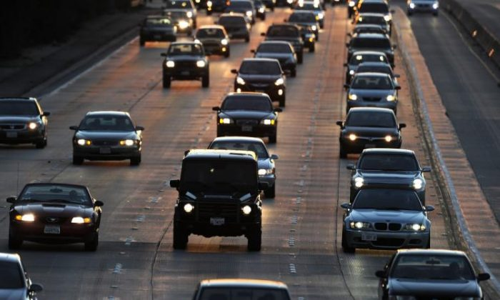 People drive on Highway 134 (Ventura Freeway) at the end of the evening rush hour in Glendale, Calif., on Sept. 3, 2010, before the start of the three-day Labor Day holiday weekend. More than 57 million drivers over the age of 65 are expected to be on the road by 2030. (Robyn Beck/AFP/Getty Images)