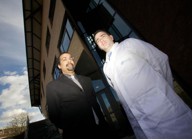 Dr. Syed Ansar Md. Tofail, Project Coordinator and John Mulcahy Project Manager of University of Limerick MRSA project (Emma Jervis, Press22)