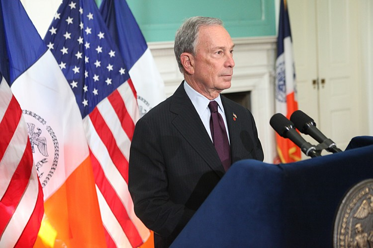 Mayor Michael Bloomberg presides over a bill signing