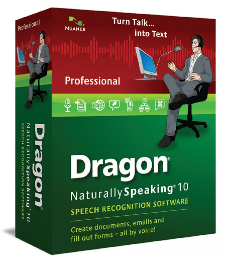 Dragon Naturally Speaking 10 Professional from Nuance allows users to turn speech into text and operate their computer using a microphone headset. (Courtesy of Nuance)