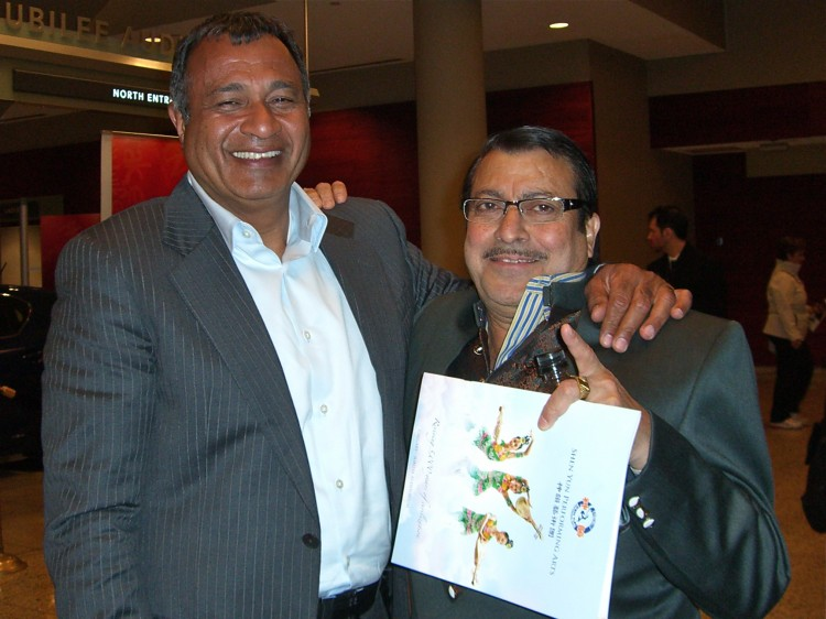 Nawaz Hirji (L) and Mohamed Jessa attend Shen Yun Performing Arts attend Shen Yun Performing Arts