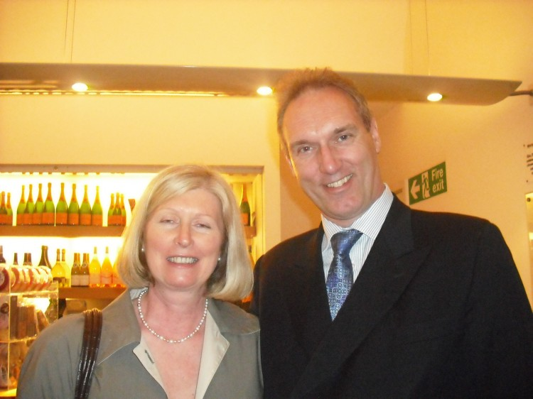 Surgeon David Harrison (R) and his wife Ann