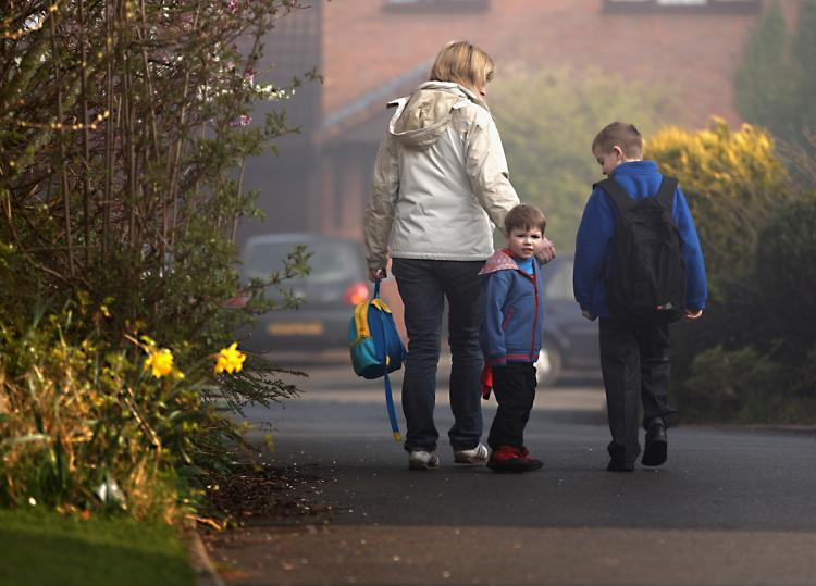 A daily activity like walking to school can increase kids` physical fitness. (Christopher Furlong/Getty Images)
