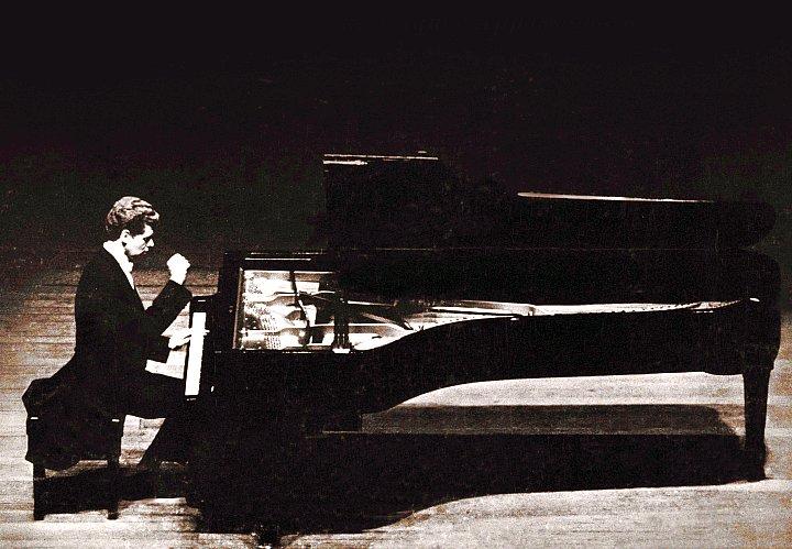 Van Cliburn, the great American pianist.