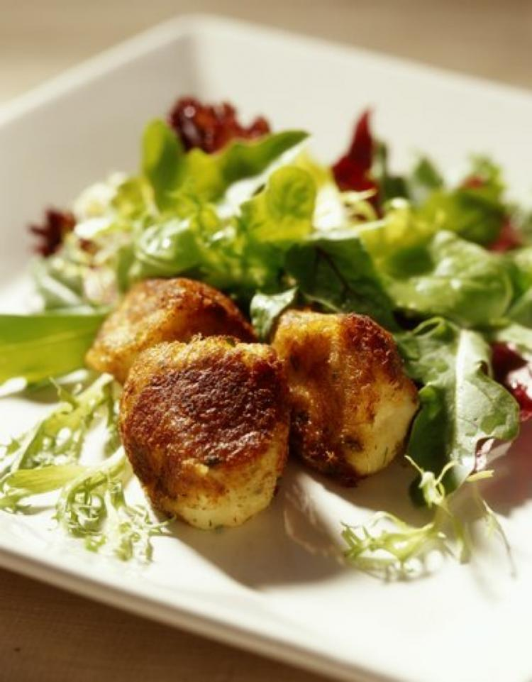 These fritters are pan-fried rather than deep-fried. (Diane Padys/Getty Images)