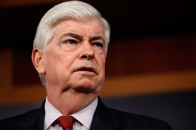 Senate Banking Committee Chairman Christopher Dodd at the US Capitol in March, 2010. Dodd is a key sponsor of the bill, The Daniel Pearl Freedom of the Press Act. (Chip Somodevilla/Getty Images)