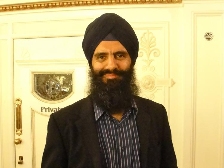 Inderpal Singh, an IT consultant, at The London Coliseum for Shen Yun Performing Arts, on April 7. (The Epoch Times)