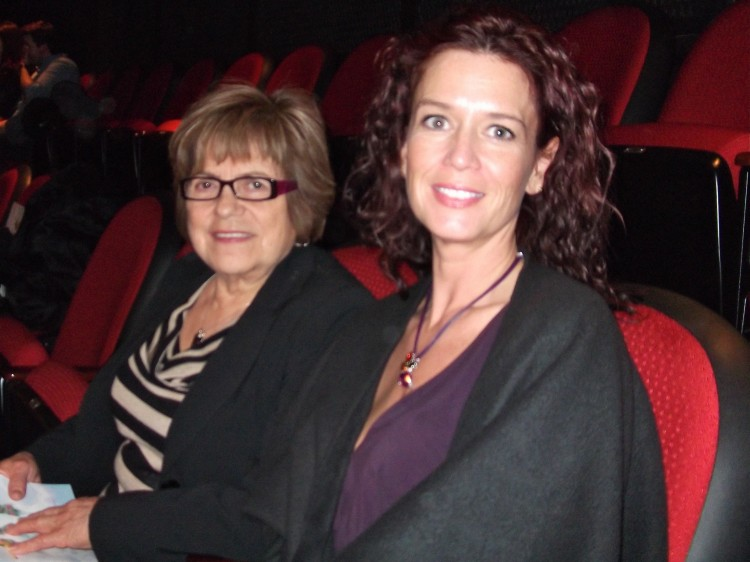 Robin Roberts (R) and  her mother-in-law, Marta Zelada, at Shen Yun