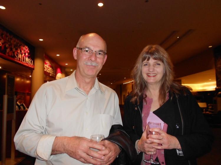 Kim Woolgar (L) and his girlfriend Kathy Hicks  at Shen yun