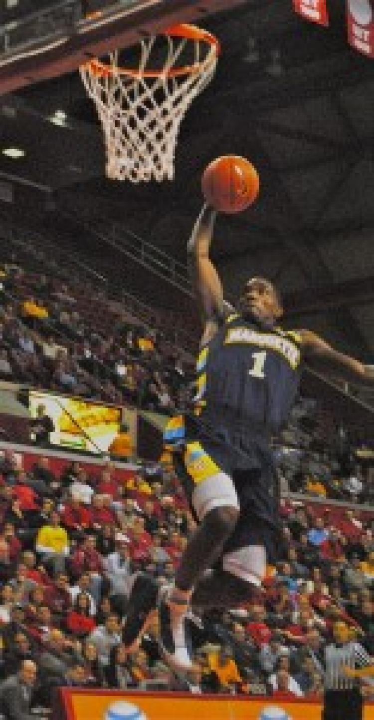 Marquette's Darius Johnson-Odom recorded a game-high 29 points on Wednesday against Rutgers. (Kyle Franko/ NewJerseyNewsRoom.com)