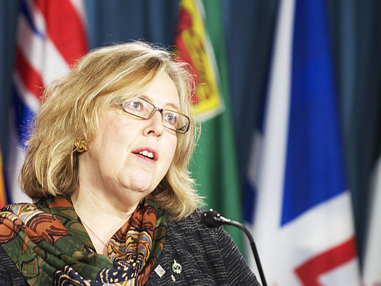 Canadian Green Party leader Elizabeth May on Feb 9