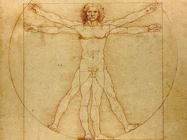 Leonardo Da Vinci's world-famous sketch celebrating the human form. (Leonardo Da Vinci)