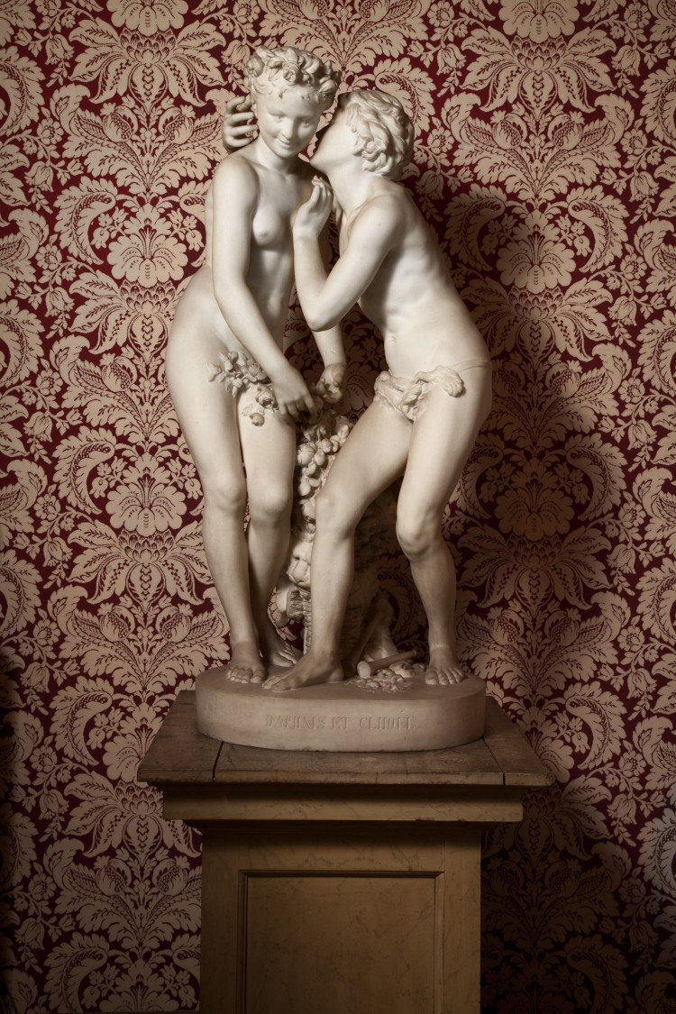 CARPEAUX MASTERPIECE: 'Daphnis and Chloe' is a marble sculpture created by 19th century master-sculptor Jean-Baptiste Carpeaux during the two years he lived in England to escape the disastrous Paris Commune. Estimated at US$1.6 million to $2.5 million. (Courtesy of Sotheby's)