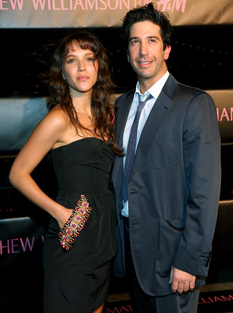 Zoe Buckman and David Schwimmer attend the launch of 'Matthew Williamson for H&M' Spring 2009 collection at The Majesty on April 28, 2009 in New York City.  (Astrid Stawiarz/Getty Images)