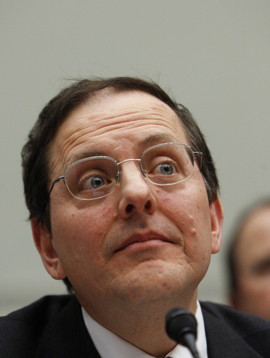 Edward DeMarco, acting director of the Federal Housing Finance Agency (FHFA), testifies during a Committee on Financial Services hearing on Compensation in the Financial Industry in 2010. DeMarco spoke Tuesday at the Brookings Institution in Washington on the use of TARP funds to provide principal assistance for underwater mortgages. (Ann Heisenfelt/Getty Images)