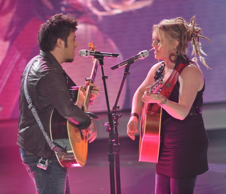 Lee DeWyze and Crystal Bowersox will face off next week for the title of American Idol. (Michael Becker/FOX)