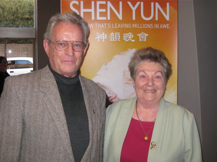 Mr. Orsag and his wife at the afternoon performance. (Deming/The Epoch Times)