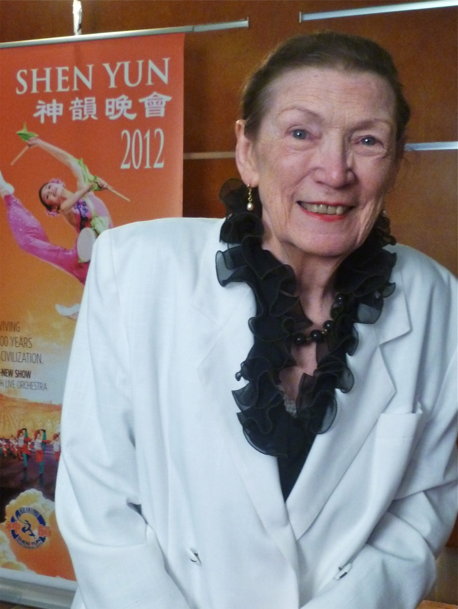 Doris Bishop (nee Goddard) at Shen Yun