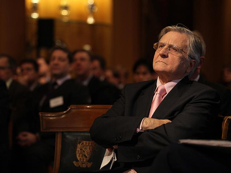 European Central Bank president Jean-Claude Trichet is pictured before giving a lecture on regulation, in central London, on December 11, 2009. (Shaun Curry/AFP/Getty Images)