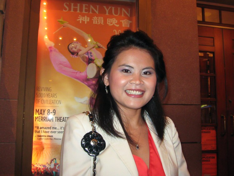 Soben Pim attends Shen Yun Performing Arts at the Merriam Theatre on May 9.