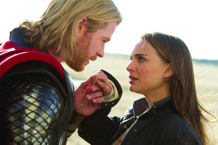 Chris Hemsworth stars as Thor with Natalie Portman in Kenneth Branagh's comic book adaptation debut, Thor. (Paramount)
